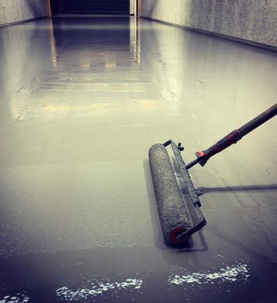 Coating vloer schietbaan Aalsmeer